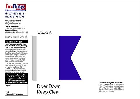 Code A Size 3 (DIVER DOWN KEEP CLEAR)