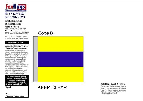 Code D Size 3 (KEEP CLEAR)