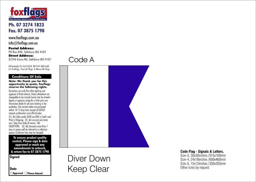 Code A Size 4 (DIVER DOWN KEEP CLEAR)