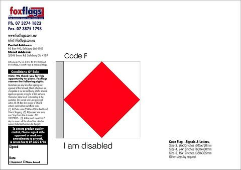 Code F Size 5 (I AM DISABLED)