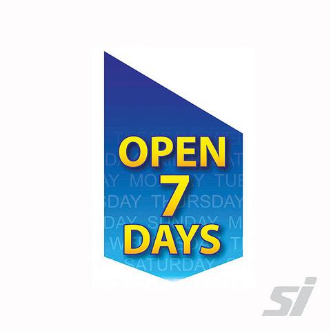 Open 7 Days End Sign Kit