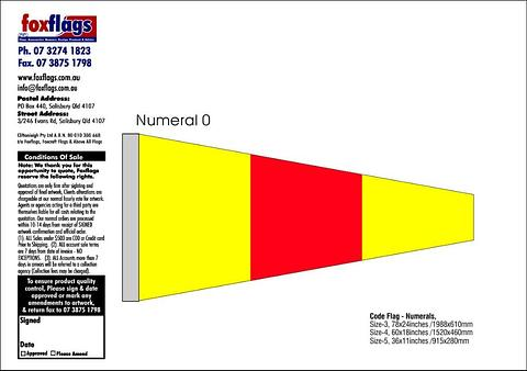 Standard Numeral Pennant 0