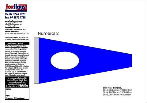 Standard Numeral Pennant 2