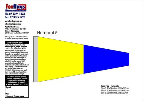 Standard Numeral Pennant 5