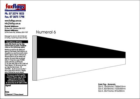 Standard Numeral Pennant 6