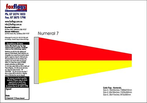 Standard Numeral Pennant 7