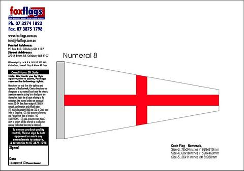 Standard Numeral Pennant 8
