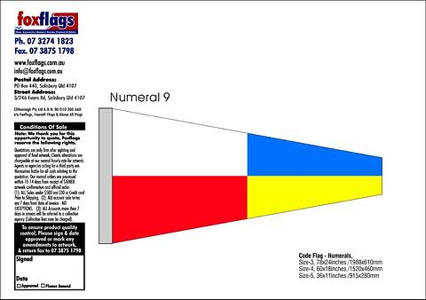 Standard Numeral Pennant 9