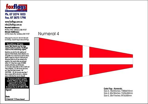 Standard Numeral Pennant 4