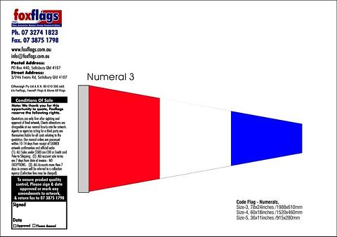 Standard Numeral Pennant 3